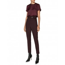 Cue Womens Twill Satin Tee Plum Near Me TDWPEWB - 67% Polyester 33% Recycled Polyester