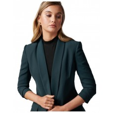 Forever New Women Daisy Bf Blazer Teal AAAVTYA - Main/Lining: 100% Polyester