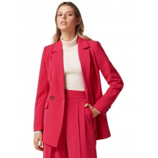 Forever New Women's Eileen double breasted blazer Hot Pink Size XS new in WMMNIMJ - Main: 100% Polyester. Lining: 93% Polyester 7% Elastane