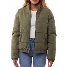 All About Eve Women's Mila Puffer Jacket Khaki Plus Clearance Sale MQPNMUP - 100% Polyester