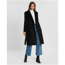 Girl's Amelia Wool-Blend Coat Atmos&Here Black For Extreme Cold cool designs URNNZJX