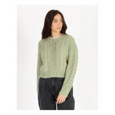 Piper Women's Cable Knit Cardigan Pistachio Holiday Recommendations EIFFFZJ - 72% Acrylic 18% Wools 10% Nylon