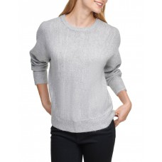 DKNY Womens Crew Neck Sweater With Sequin Detail Frost Grey ABSAOIE - 69% Acrylic 28% Polyester 3% Spandex