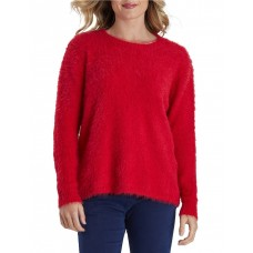 Hammock & Vine Women's Fluffy Crew Neck Knit Jumper Red Holiday stores IWUKXRP - 50% Acrylic 50% Polyester