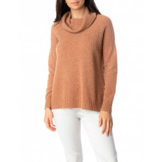 Jump Womens Ribbed Cowl Nk Pullover Clay Oversized DFOYUUT - 80% Lambswool 20% Nylon
