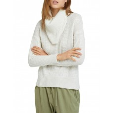 Oxford Women's Harper Roll Neck Knit Winter white Holiday Hot Sale EFCHJYC - 60% Wool 40% Nylon