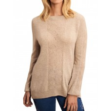 Blue Illusion Women's Wool Cashmere Cable Knit NUDE Cheap HFKXZDO - 90% wool 10% cashmere