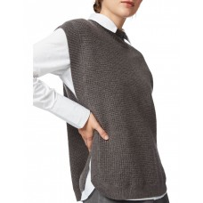 David Lawrence Women's Nora Knit Gillet CHARCOAL KBPAOQL - 100% Merino wool. Gentle cold hand wash.