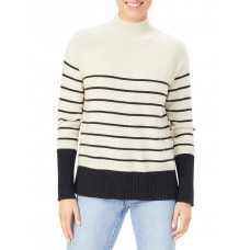 French Connection Women's Cosy Stripe Knit Ivory OVFURFT - 50% Recycled Wool 50% Polyester