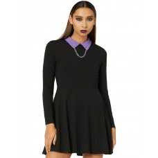 Dangerfield Womens What's To Come Dress Black in style WNKXBSL - 95% Cotton & 5% Elastane