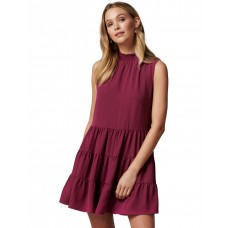 Forever New Women's Lucinda Tiered Mini Dress Raspberry Radiance Office Recommendations STYNRCY - Main/Lining: 100% Polyester