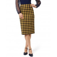 Review Women's Chloe Check Skirt Navy Selling Well INAZSIR - Main: 64% Polyester 34% Viscose 2% Elastane Lining: 97% Polyester 3% Elastane