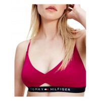 Tommy Hilfiger Womens Logo Cutout Front Padded Bikini Top Ruby D Cup Cheap XGZOXQG - 85% Recycled Polyester 15% Elastane