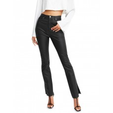 Belle & Bloom Womens Take Me Out Pleather Pant Black FPFGQBE - 74% Cotton 23% Polyester 3% Elastane