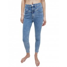 Calvin Klein Jeans Women's High Rise Super Skinny Ankle Jeans Ab100 Light Blue Yok KRQUOEE - 89% Cotton 6% Polyester 5% Elastane