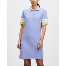 Girl's Waffle Polo Dress Lacoste Freesia/Bagatelle IQNQDNR