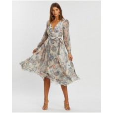Girl's Cleopatra Pleated Wrap Dress Atmos&Here Paisley Print HSQZAPB
