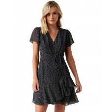 Forever New Women Kitty Ruffle Skater Dress Assorted Plus Size LKOAVCZ - Main/Lining: 100% Polyester
