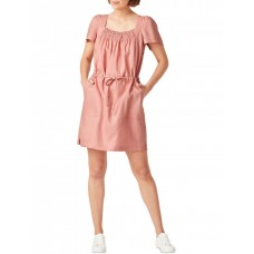 French Connection Womens Linen Shirred Dress Pink Plus Size most comfortable JHESIYL - 100% Linen