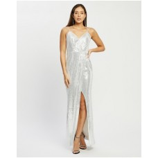 Women Emille Jersey Sequin Gown Bariano White & Silver wholesale CUOAMAY