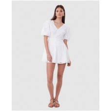 Women Tie The Knot Mini Dress TORANNCE White The Top Selling GGWWMKN