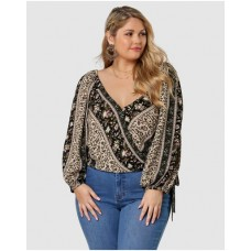 Girl's Spellbound Print Blouse The Poetic Gypsy VINTAGE STRIPE PAISLEY Ships Free QEOOTKT