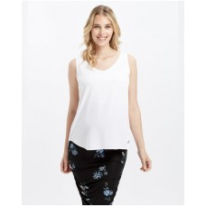 Girl's Bamboo Woven V-Neck Bamboo Body white in style VQTQCWO