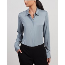 Girl's Classic Fitted Shirt Theory Eggshell Near Me SIZRECL