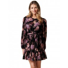 Forever New Petite Womens Sutton Petite Lace Skater Dress Dark Vienna Floral lifestyle VDQINSN - Main/Lining/Trim: 100% Polyester