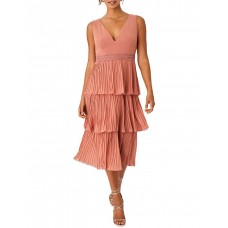 Girls On Film Women Rose Gold Pleated Tier Dress Bronze comfortable KYYGQFT - Outer: 100% Polyester; Lining: 100% Polyester