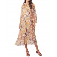 MLM Label Women's Carey Silk Midi Dress Tapestry Floral For The Over 40S e fashion HEPADWG - 100% Silk/Viscose Lining