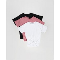 Girl's Downtown Tie Tee 3-Pack Silent Theory MULTICOLOURED High Quality Number 1 Selling FLQXXDQ