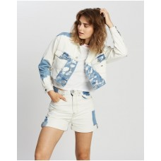 Girl's Extra Cropped Trucker Jacket Tommy Jeans Cloudy Light Blue business casual ZWXWTLZ