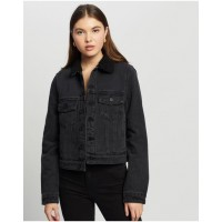 Women's Suburban Sherpa Jacket Silent Theory BLACK For Sale AGJFXSZ