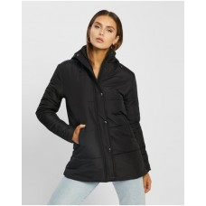Women Lucy Long Puffer Atmos&Here Black boutique VZRPLAY