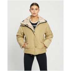 Women's Combat Jacket P.E Nation Olive Grey Selling Well SNLEJYO