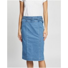 Girl's Braid Denim Skirt Review Chambray Blue outlet DOGZLYD