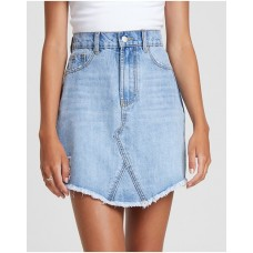 Women Rebel Distressed Denim Skirt The Fated Blue Wash Number 1 Selling ACBXISR