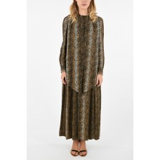 Celine Women's Animal Printed Tie Neck Shirt Dress on clearance P268561 CNSQUHT