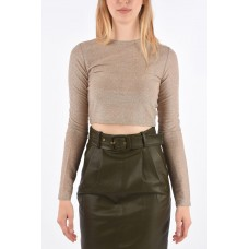 Andamane Women's Lurex Cropped COCO Top Cut Off P314085 QYQDJBV