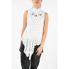 Chloe Women Asymmetrical Embroidered Top with Studs Applied New Look P284734 SJGSDEX