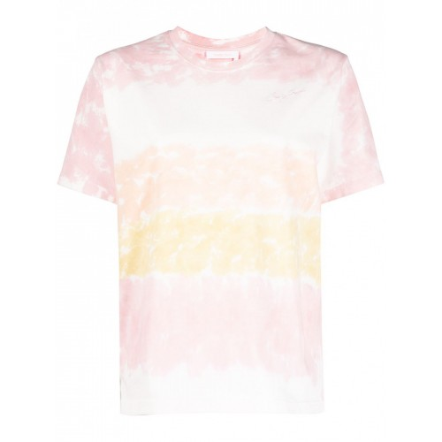 SEE BY CHLOÉ Striped Cotton T-shirt 2021 Trends 846817006 ZGGGDIE