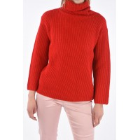 Red Valentino Women Cable Knit RED LADIES Turtle-Neck Sweater Basic P310888 CVORGGJ