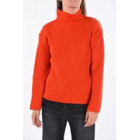 Tory Burch Women's Wool and Cashmere crochet turtle-neck sweater fashion guide P253846 ERITQMY