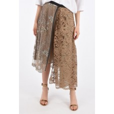 Antonio Marras Women's Embroidered Wrap Skirt with Jewel Applications Size L P313581 OCDAJLR