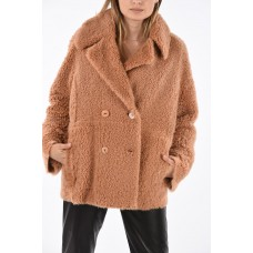 DROMe Women Shearling Reversible Double Breasted Coat 4F business casual P238546 ORKZUIY