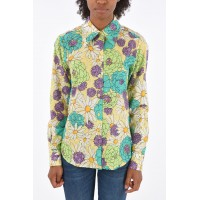 Marc Jacobs Women's RUNWAY Floral Printed Shirt with Lurex Details in style P315473 IALQSEU