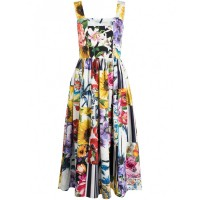 Girl's Clothing DOLCE & GABBANA Floral Print Cotton Dress Formal Selling Well 849596079 GOMGFAY