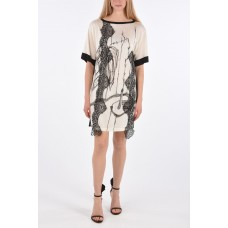 Antonio Marras Women Short Sleeve Tunic with Lace Applications Summer Trends 2021 P313584 LGFUOHS