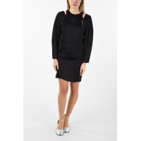 Maison Margiela Women's MM1 Cut Out Mini Dress With Batwing Sleeve For Wedding Guest P271599 SCRCFHG